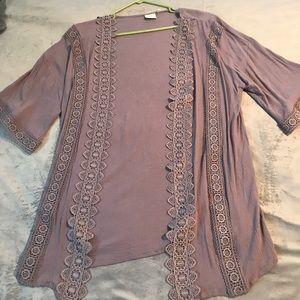 Lavender coverup/kimono